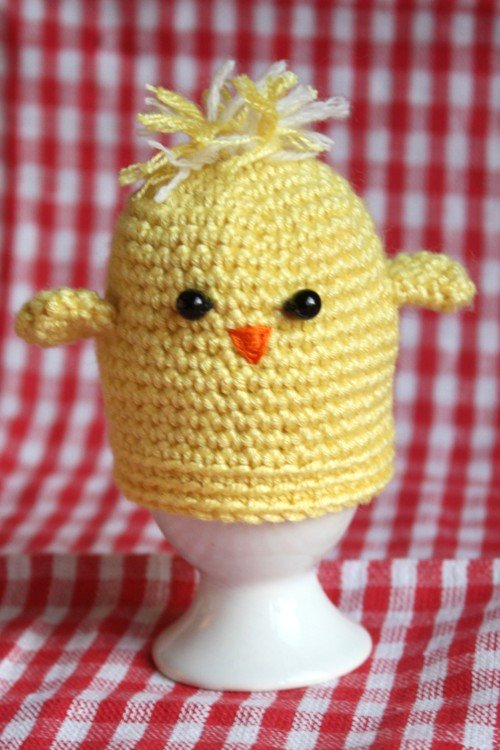 Vintage Crochet Chicken Egg Cosy cover kitchenalia by recyclarama