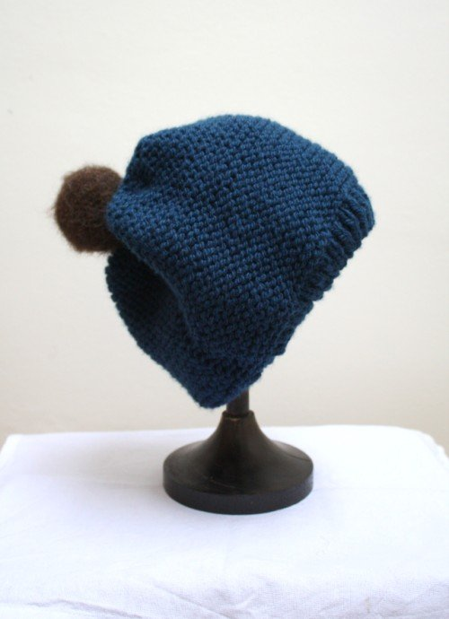 Free Knitting Pattern Garter Stitch Hat : Garter Stitch Sloppy Beanie Hat   Emma Varnams blog