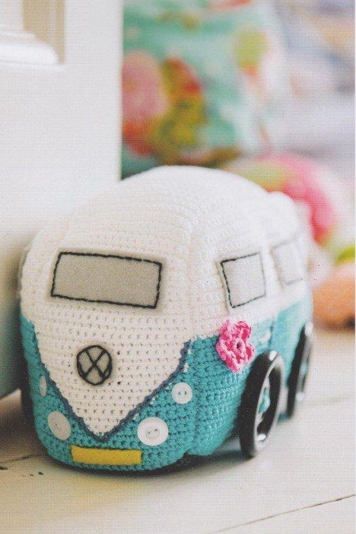 Campervan, Crochet, pattern, emma varnam