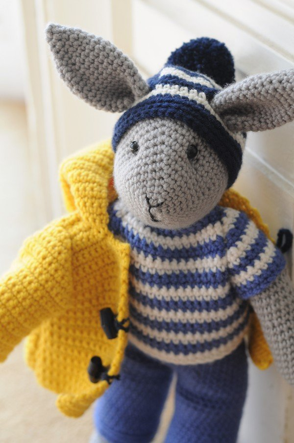 jack, rabbit, cute, crocheted, animals