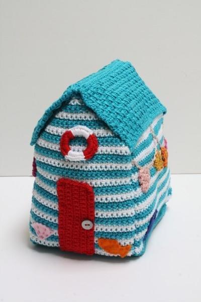 beach, hut, crochet, doorstop, pattern