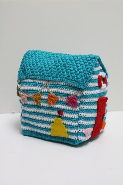 beach, hut, doorstop, crochet, pattern