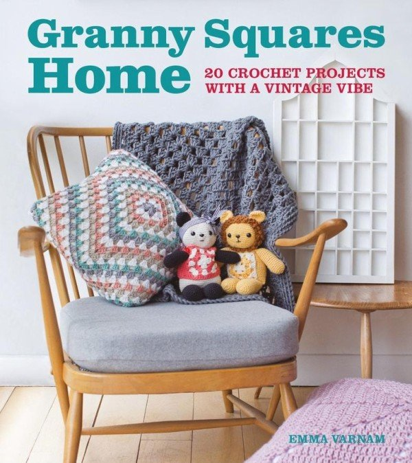 Book Cover Crochet Granny : New book granny square home emma varnam s