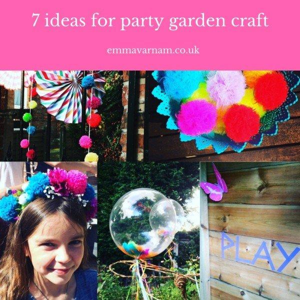 ideas, party, craft, pom-poms, ballons, headband