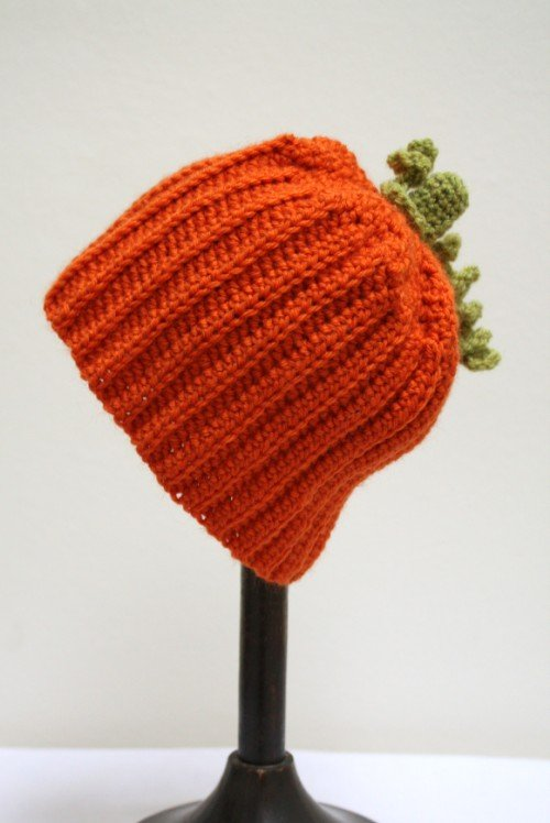 pumpkin, crochet, baby, hat