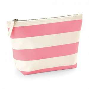 pink - white- project- bag